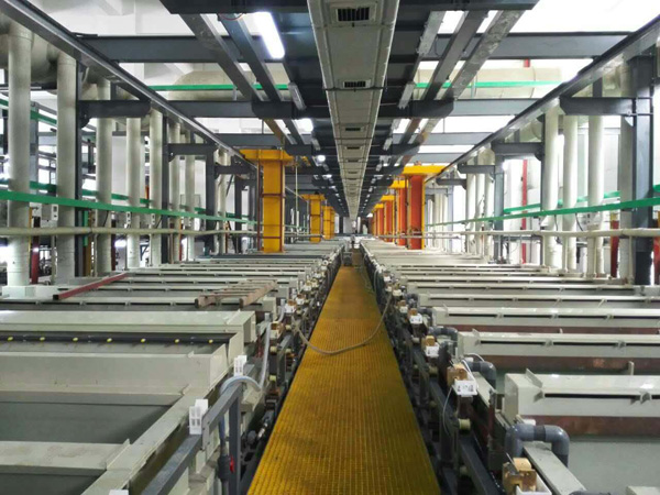 Intelligent ABS plastic electroplating production line